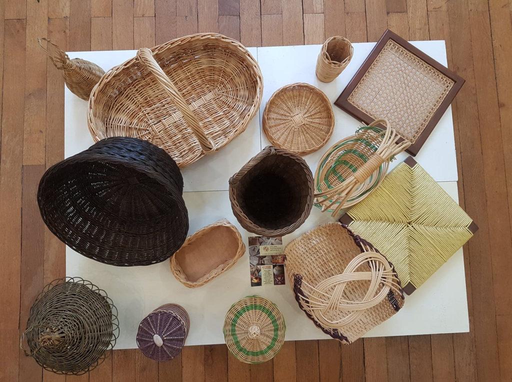 diverses vanneries réunies - creation des ateliers vanneries la poterie de st porchaire