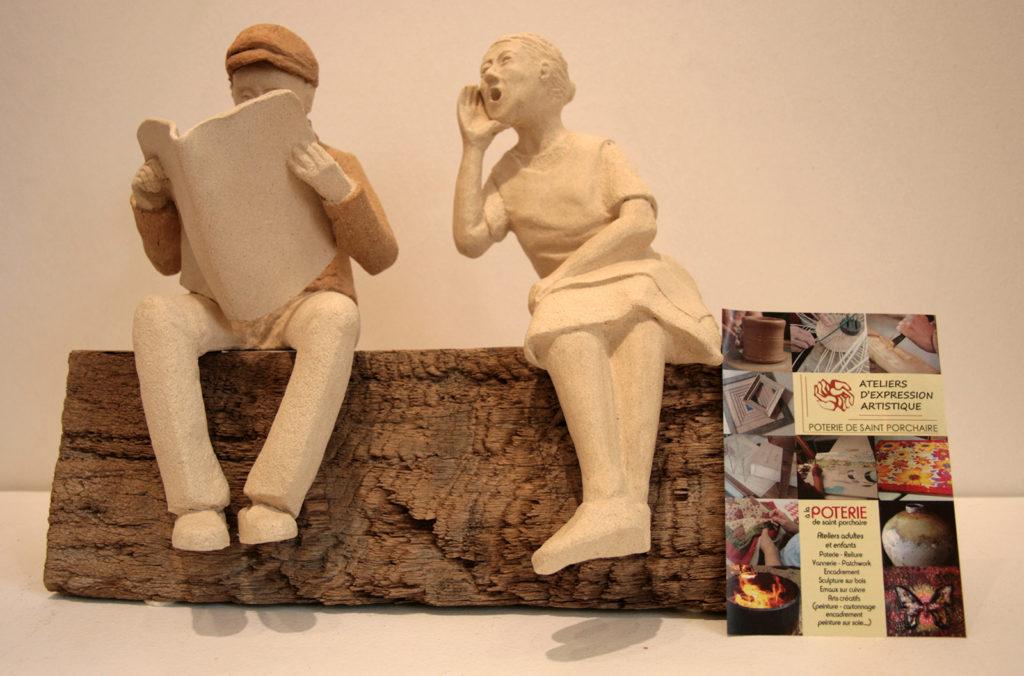 couple en argile atelier poterie bressuire