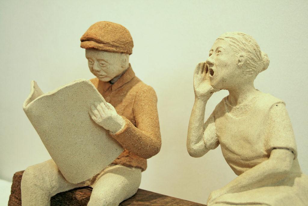 couple en argile atelier poterie bressuire détails